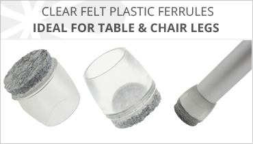 CLEAR FELT PLASTIC CHAIR FERRULES